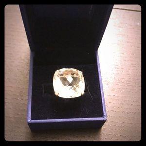 Swarovski crystal white crystal ring
